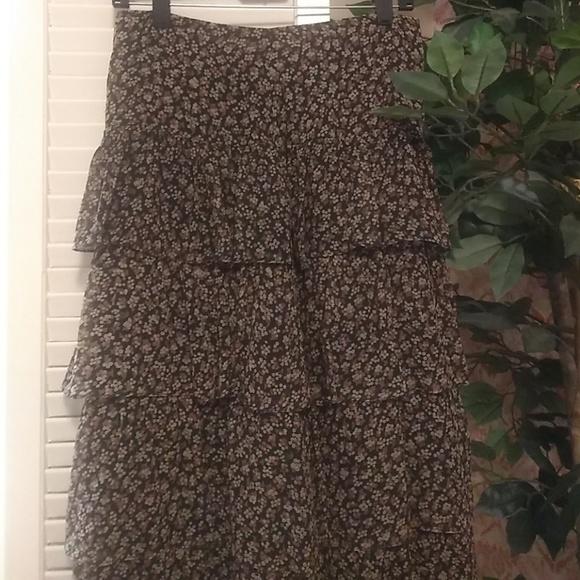 10c3491ad6 Tibi Skirts | Silk Floral Tiered Skirt | Poshmark
